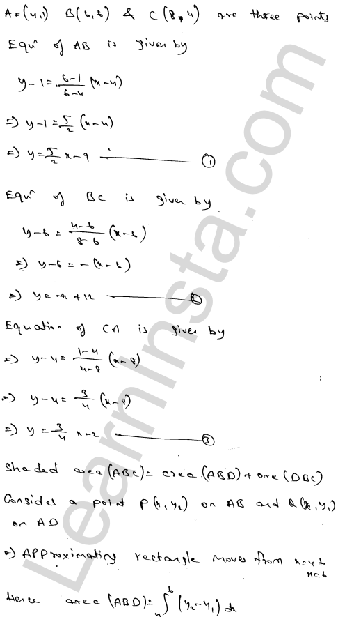 Solution of RD Sharma class 12 chapter 21 Areas of Bounded Regions Ex 21.3 56