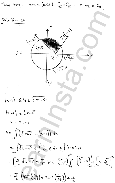 Solution of RD Sharma class 12 chapter 21 Areas of Bounded Regions Ex 21.3 58