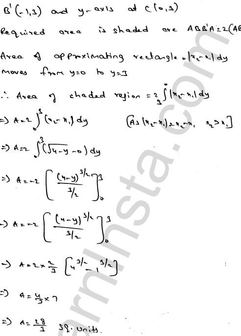 RD Sharma Class 12 Solutions Areas of Bounded Regions Chapter 21 Ex 21.3 6