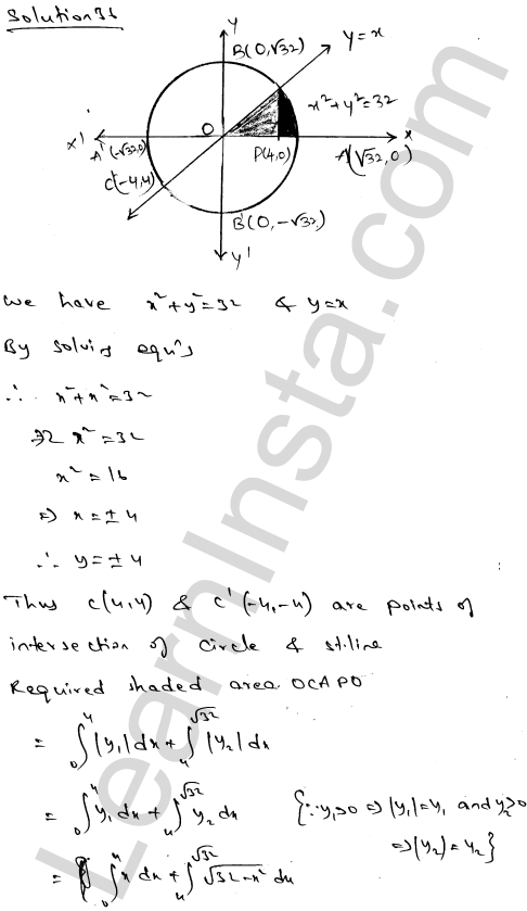 Class 12 RD Sharma solutions chapter 21 Areas of Bounded Regions Ex 21.3 61