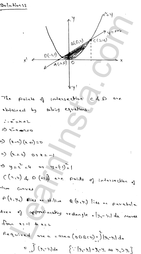 Class 12 RD Sharma solutions chapter 21 Areas of Bounded Regions Ex 21.3 64