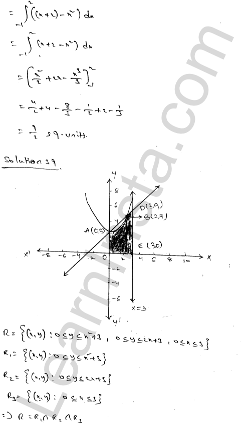 Class 12 RD Sharma solutions chapter 21 Areas of Bounded Regions Ex 21.3 65