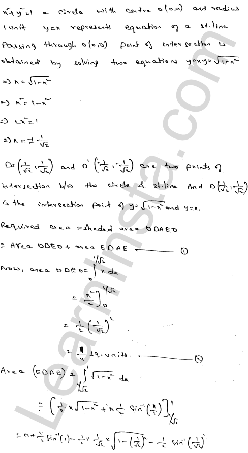 Class 12 RD Sharma maths solutions chapter 21 Areas of Bounded Regions Ex 21.3 68