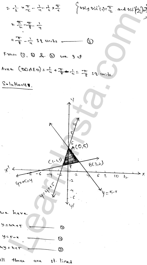 Class 12 RD Sharma maths solutions chapter 21 Areas of Bounded Regions Ex 21.3 69
