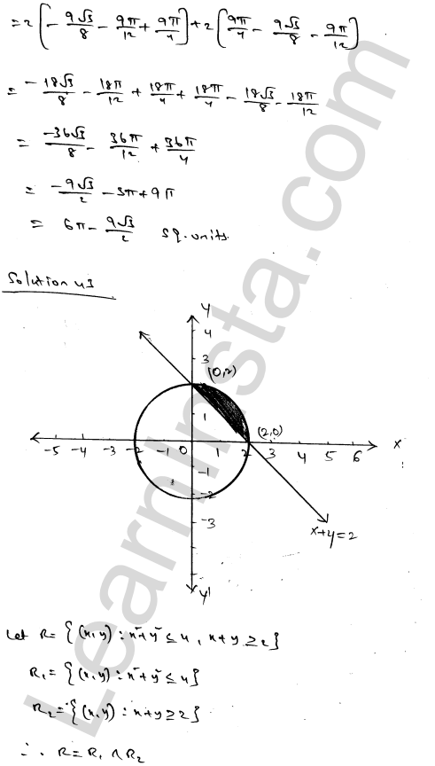 RD Sharma Class 12 Solutions Chapter 21 Areas of Bounded Regions Ex 21.3 73