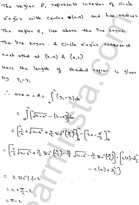 RD Sharma Class 12 Solutions Chapter 21 Areas of Bounded Regions Ex 21.3 74