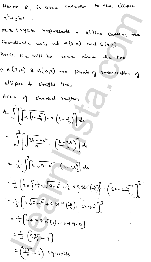 RD Sharma Class 12 Solutions Areas of Bounded Regions Chapter 21 Ex 21.3 76