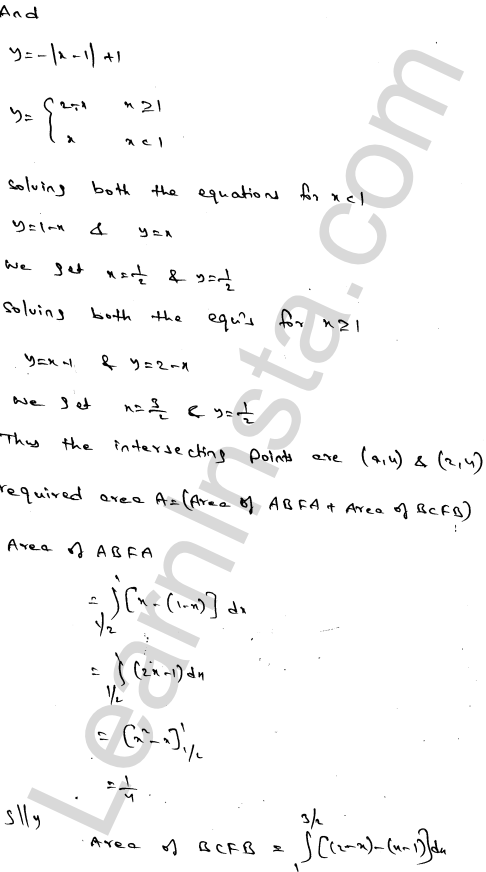 RD Sharma Class 12 Solutions Areas of Bounded Regions Chapter 21 Ex 21.3 78