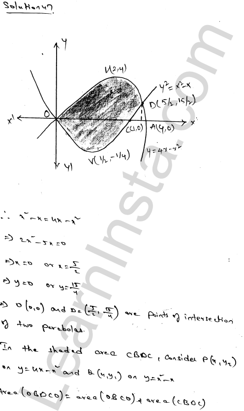 RD Sharma Solutions Class 12 Areas of Bounded Regions Chapter 21 Ex 21.3 81