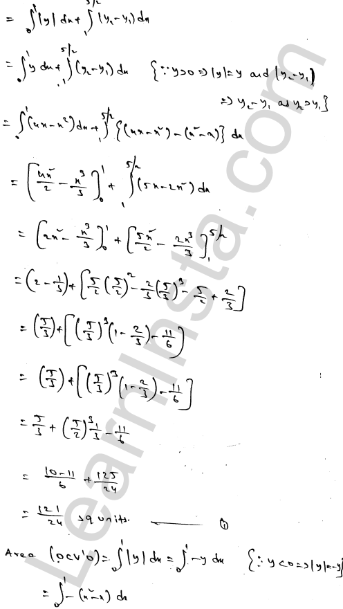 RD Sharma Solutions Class 12 Areas of Bounded Regions Chapter 21 Ex 21.3 82