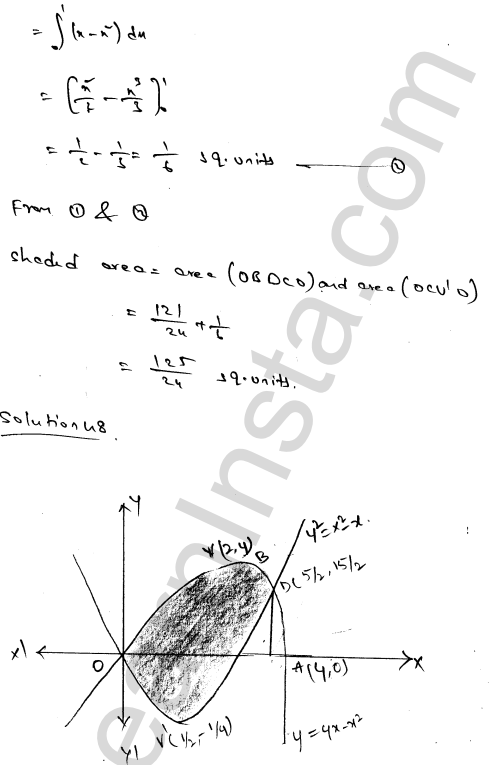 RD Sharma Solutions Class 12 Areas of Bounded Regions Chapter 21 Ex 21.3 83