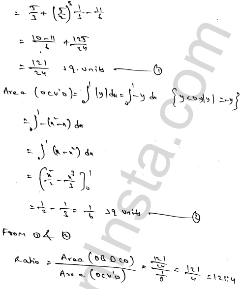 RD Sharma Solutions Class 12 Areas of Bounded Regions Chapter 21 Ex 21.3 85