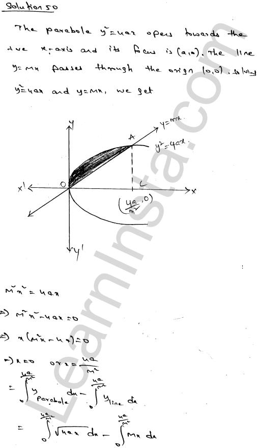 Class 12 RD Sharma solutions chapter 21 Areas of Bounded Regions Ex 21.3 89