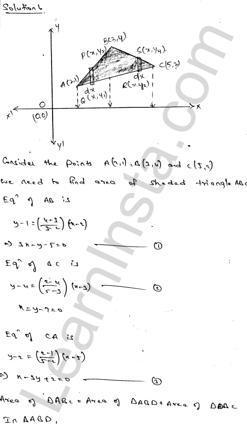 RD Sharma Class 12 Solutions Areas of Bounded Regions Chapter 21 Ex 21.3 9