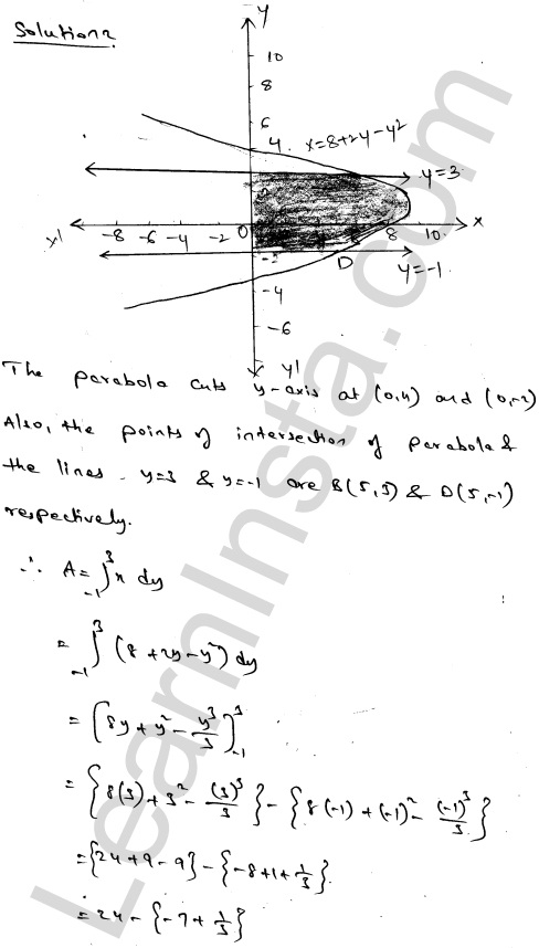 RD Sharma Solutions Class 12 Areas of Bounded Regions Chapter 21 Ex 21.4 3