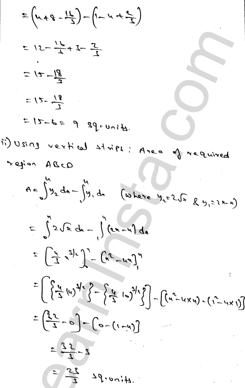 Solution of RD Sharma class 12 chapter 21 Areas of Bounded Regions Ex 21.4 5