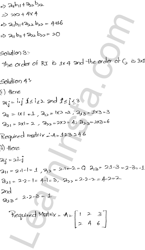 RD Sharma Class 12 Solutions Chapter 5 Algebra of Matrices Ex 5.1 2