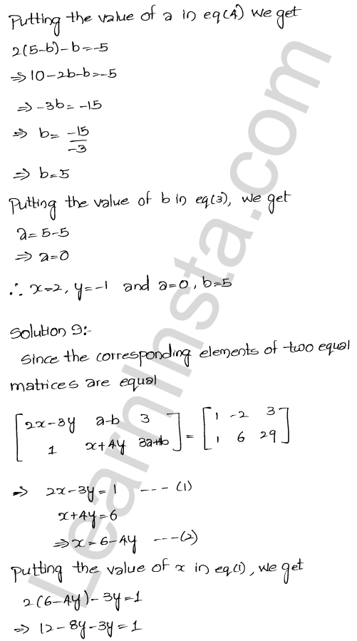 RD Sharma Class 12 Maths Solutions Chapter 5 Algebra of Matrices EX 5.1 20