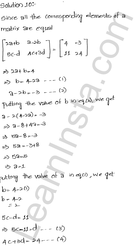 RD Sharma Class 12 Maths Solutions Chapter 5 Algebra of Matrices EX 5.1 22