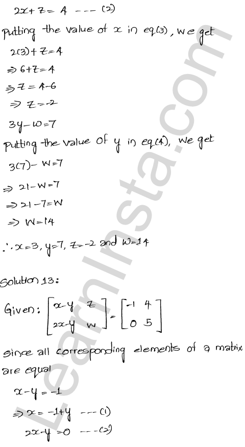 RD Sharma Class 12 Maths Solutions Chapter 5 Algebra of Matrices EX 5.1 25
