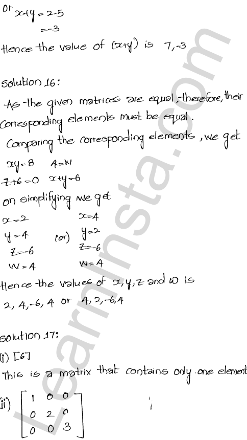 RD Sharma Class 12 Solutions Algebra of Matrices Chapter 5 Ex 5.1 28