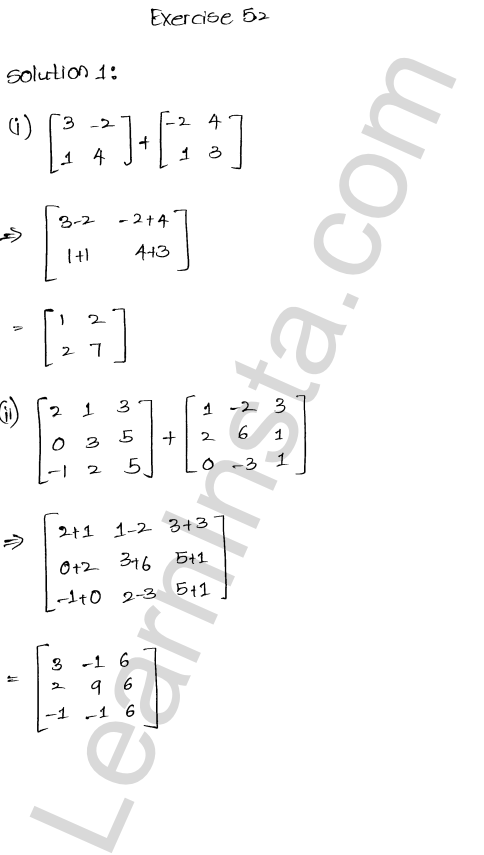 RD Sharma Class 12 Solutions Chapter 5 Algebra of Matrices Ex 5.2 1