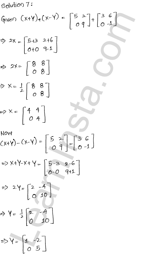 RD Sharma Class 12 Solutions Algebra of Matrices Chapter 5 Ex 5.2 10