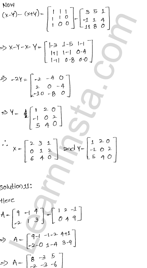 RD Sharma Solutions Class 12 Algebra of Matrices Chapter 5 Ex 5.2 14