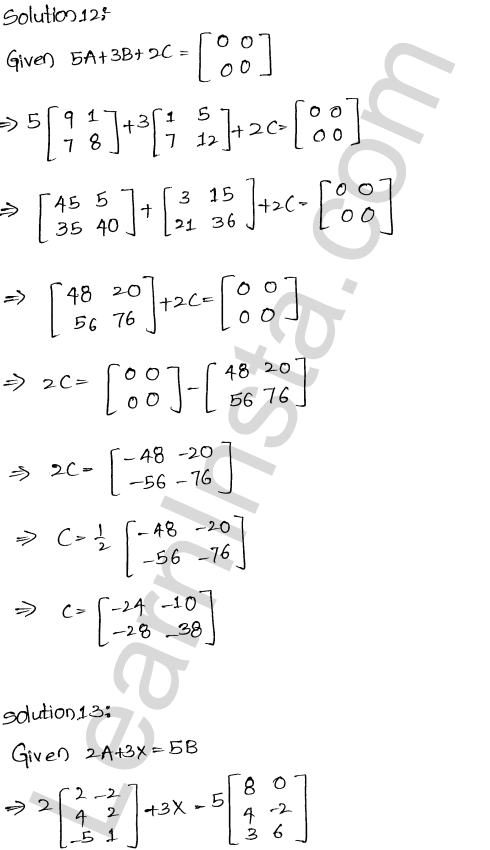 RD Sharma Solutions Class 12 Algebra of Matrices Chapter 5 Ex 5.2 15