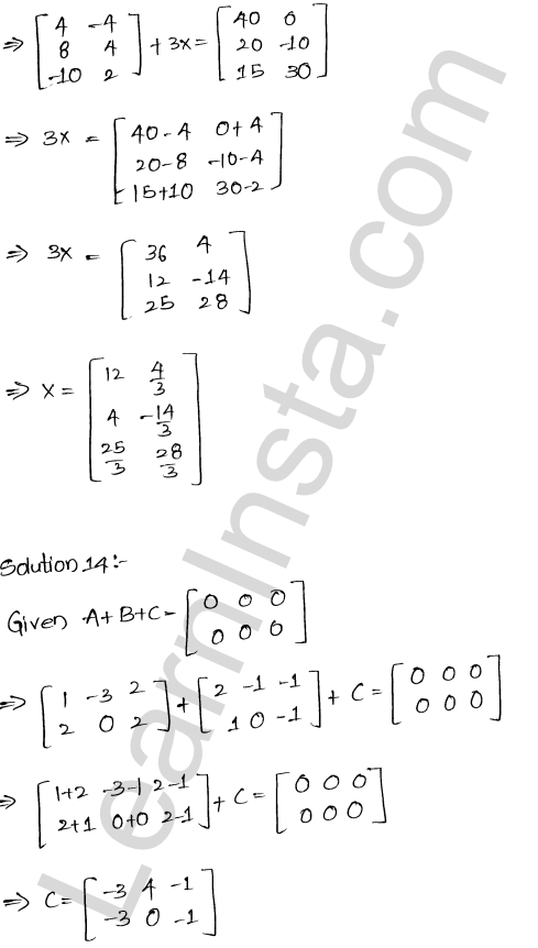 RD Sharma Solutions Class 12 Algebra of Matrices Chapter 5 Ex 5.2 16