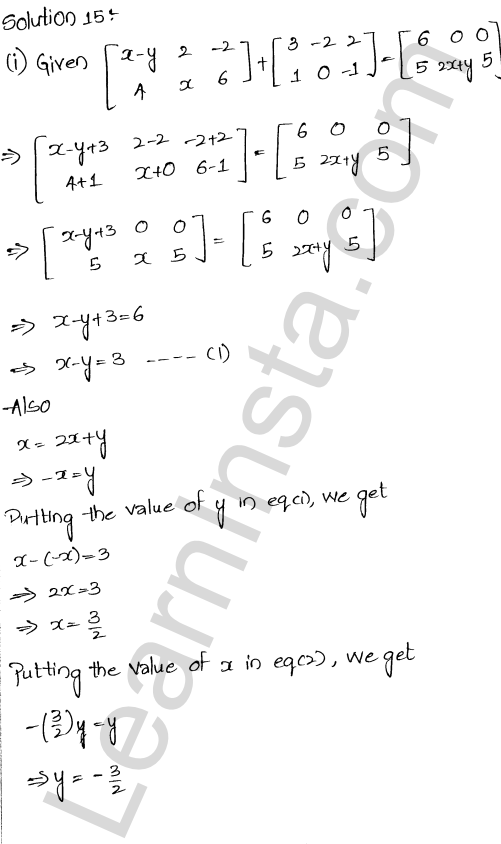 RD Sharma Solutions Class 12 Algebra of Matrices Chapter 5 Ex 5.2 17