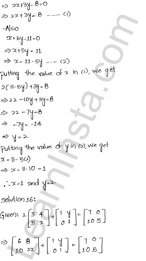 RD Sharma Class 12 Maths Solutions Chapter 5 Algebra of Matrices EX 5.2 19