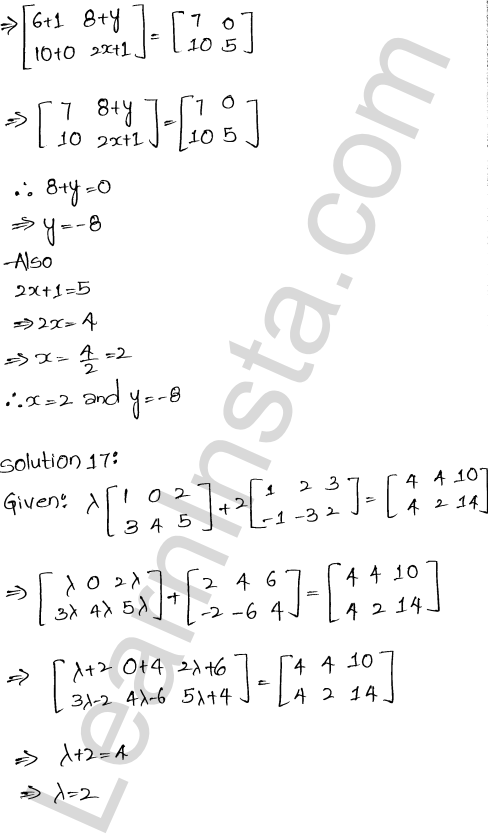 RD Sharma Class 12 Maths Solutions Chapter 5 Algebra of Matrices EX 5.2 20