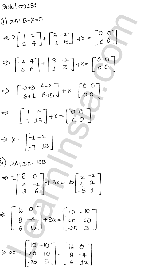 RD Sharma Class 12 Maths Solutions Chapter 5 Algebra of Matrices EX 5.2 21