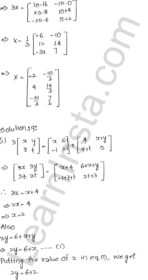 RD Sharma Class 12 Maths Solutions Chapter 5 Algebra of Matrices EX 5.2 22