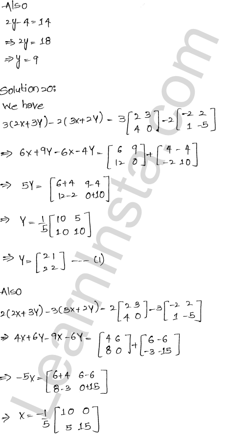 RD Sharma Class 12 Maths Solutions Chapter 5 Algebra of Matrices EX 5.2 24