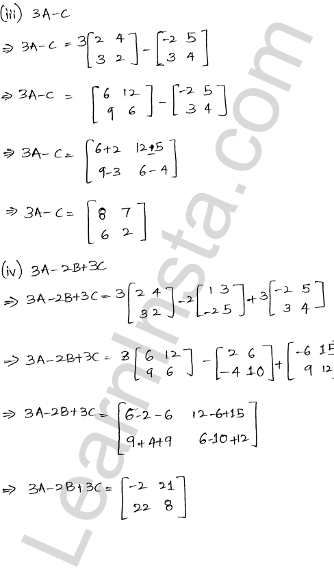 RD Sharma Class 12 Solutions Chapter 5 Algebra of Matrices Ex 5.2 3
