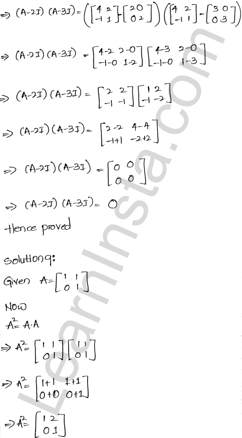 RD Sharma Class 12 Solutions Chapter 5 Algebra of Matrices Ex 5.3 10