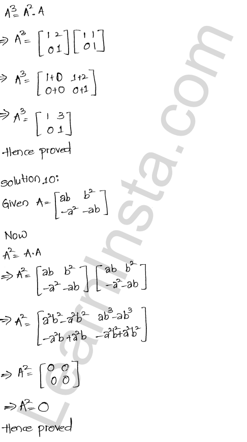 RD Sharma Class 12 Solutions Chapter 5 Algebra of Matrices Ex 5.3 11