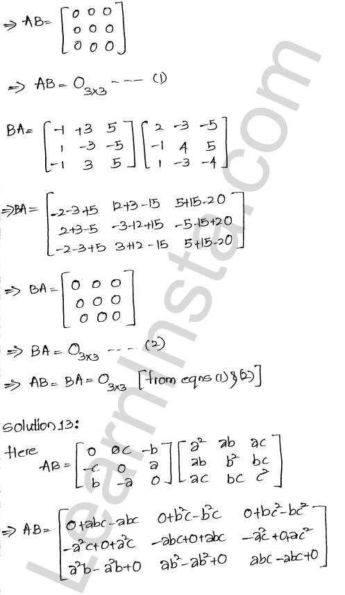 RD Sharma Class 12 Solutions Chapter 5 Algebra of Matrices Ex 5.3 13