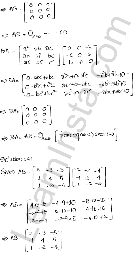 RD Sharma Class 12 Solutions Chapter 5 Algebra of Matrices Ex 5.3 14
