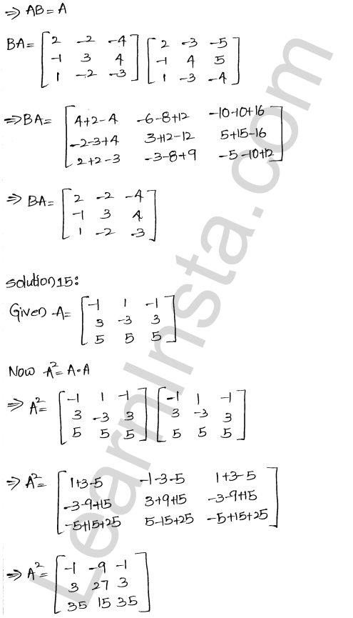 RD Sharma Class 12 Solutions Chapter 5 Algebra of Matrices Ex 5.3 15