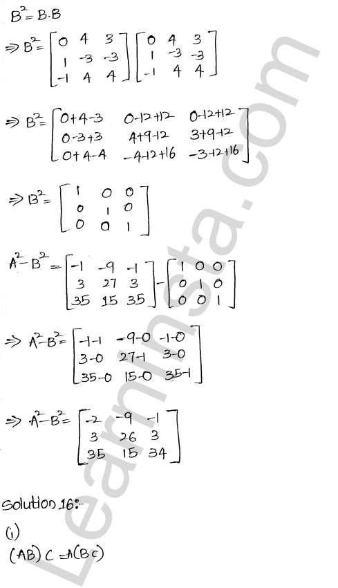 RD Sharma Class 12 Solutions Algebra of Matrices Chapter 5 Ex 5.3 16