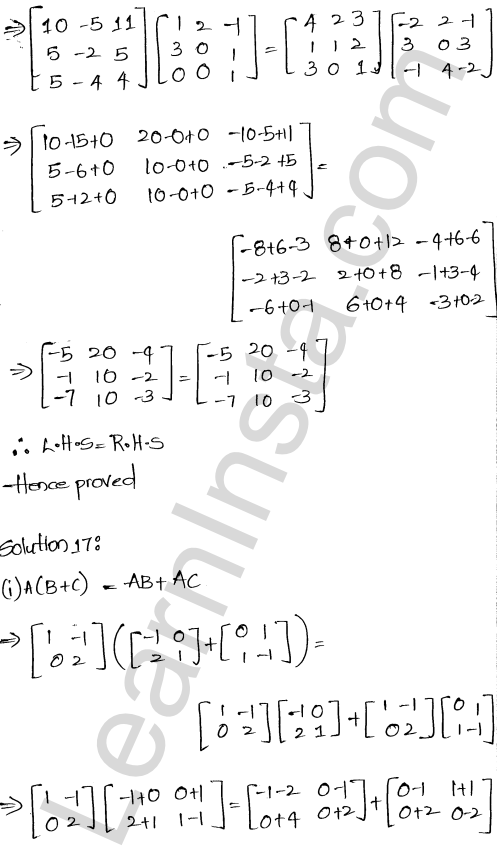 RD Sharma Class 12 Solutions Algebra of Matrices Chapter 5 Ex 5.3 18