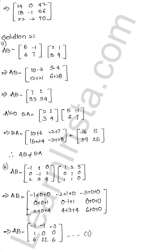 RD Sharma Class 12 Solutions Chapter 5 Algebra of Matrices Ex 5.3 2