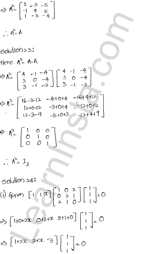 RD Sharma Class 12 Solutions Algebra of Matrices Chapter 5 Ex 5.3 25