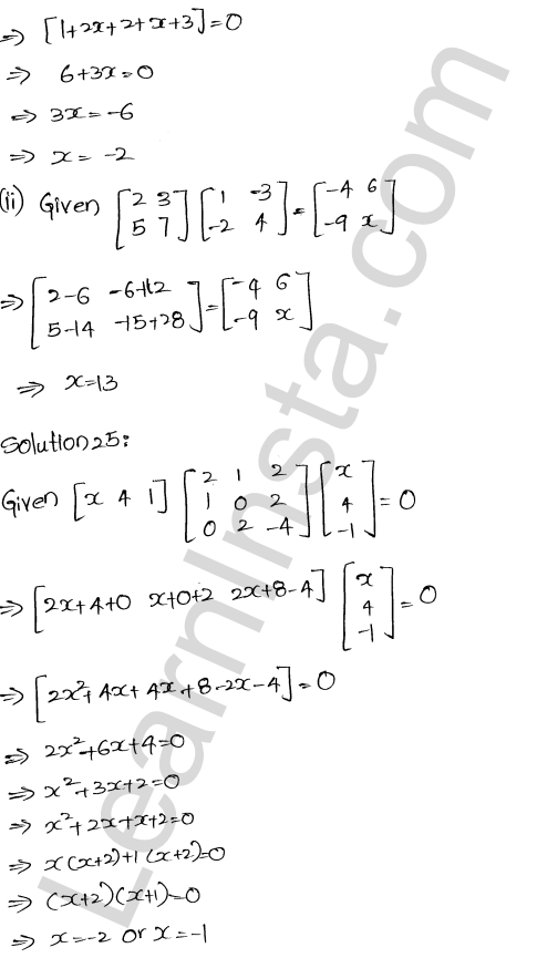 RD Sharma Solutions Class 12 Algebra of Matrices Chapter 5 Ex 5.3 26