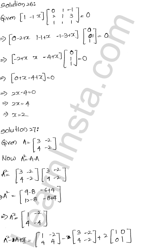 RD Sharma Solutions Class 12 Algebra of Matrices Chapter 5 Ex 5.3 27