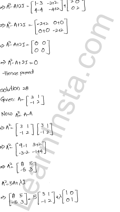 RD Sharma Solutions Class 12 Algebra of Matrices Chapter 5 Ex 5.3 28