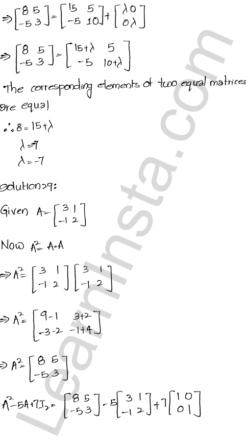 RD Sharma Solutions Class 12 Algebra of Matrices Chapter 5 Ex 5.3 29